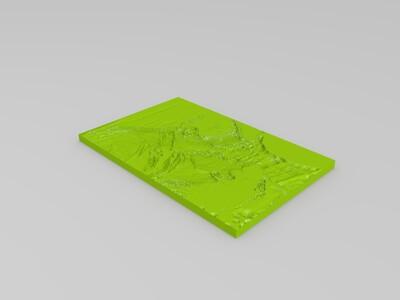 罗马假日浮雕-3d打印模型