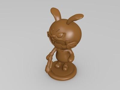 卡丁车人物-兔子-手办-3d打印模型