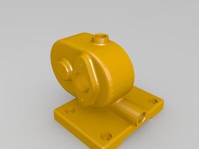齿轮泵体-3d打印模型