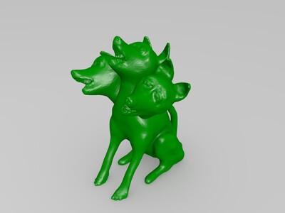 三头犬-3d打印模型
