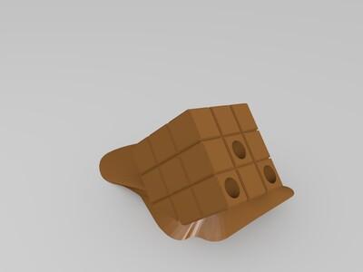 魔方笔筒-3d打印模型