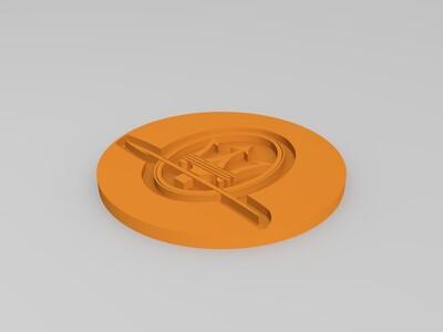 一套豪车标志的杯垫-3d打印模型