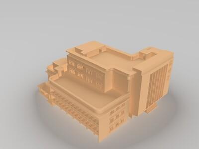 图书馆-3d打印模型