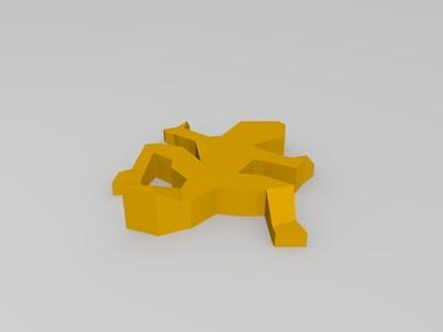 埃舍尔式蜥蜴-3d打印模型