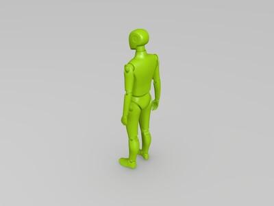 打印后可以自由活动关节的小人2-3d打印模型