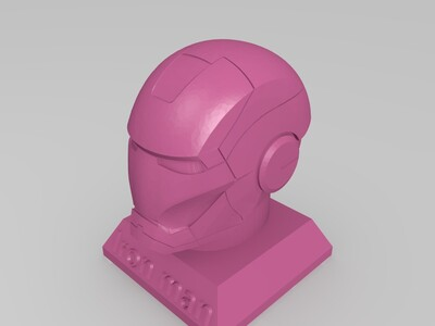 Iron Man头雕-3d打印模型