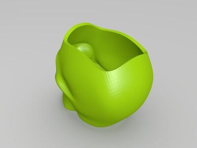 骷髅花盆-3d打印模型