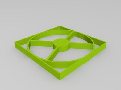 风扇罩图案-3d打印模型