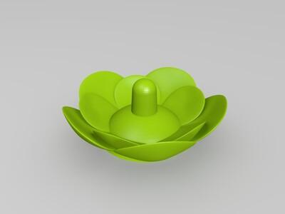 莲花戒指托盘-3d打印模型