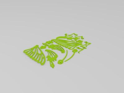 3D蝴蝶-3d打印模型