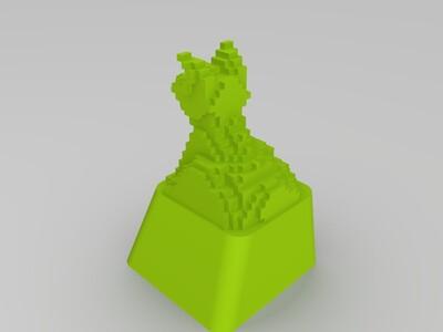 小狗键帽-3d打印模型