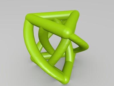 扭曲的挤压三角-3d打印模型