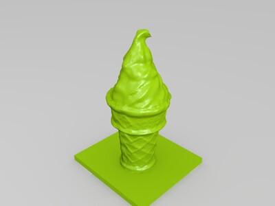 冰淇淋摆件 装饰品-3d打印模型