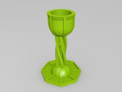 花型烛台-3d打印模型