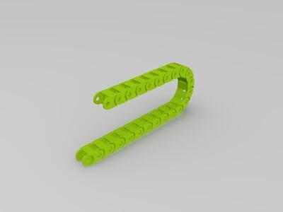 履带线 电缆链条-3d打印模型