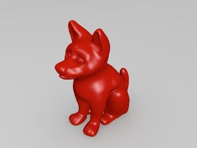 坐姿小狗-3d打印模型