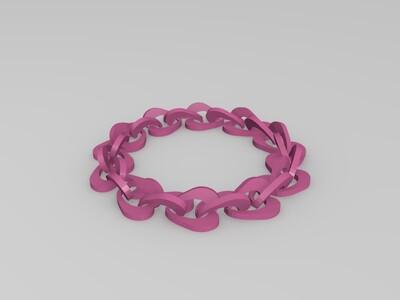 心形手链-3d打印模型
