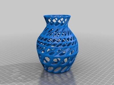 网格花瓶-3d打印模型