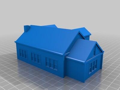 凉爽的屋子-3d打印模型