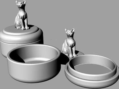 猫盒子-3d打印模型