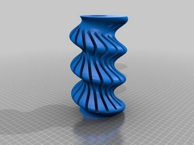 扭曲的花瓶-3d打印模型