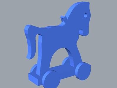 玩具马树饰品-3d打印模型