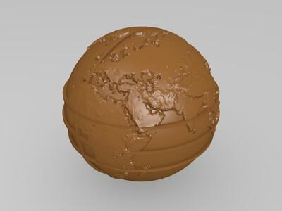纹理的地球为盲人-3d打印模型