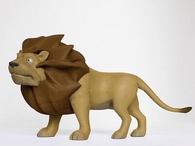 雄伟的狮子-3d打印模型