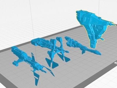 在线前夕- Abaddon艾玛战舰-3d打印模型