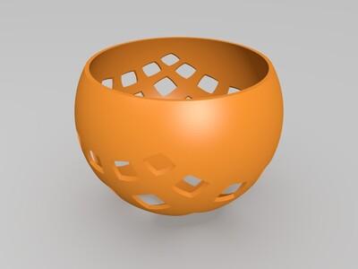 方格投影灯罩-3d打印模型