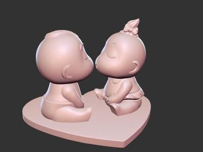 萌萌娃娃-3d打印模型