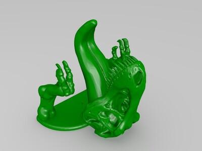恐龙骨架的钥匙挂钩-3d打印模型