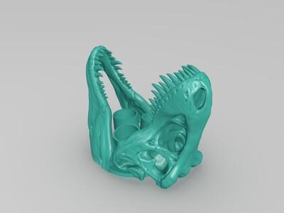 恐龙头浴室用容器-3d打印模型