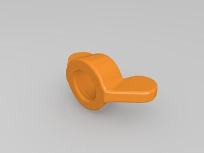 蝶形螺母-3d打印模型