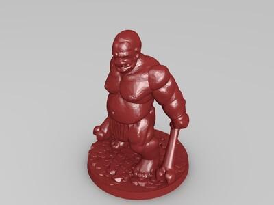 野蛮食人魔-3d打印模型