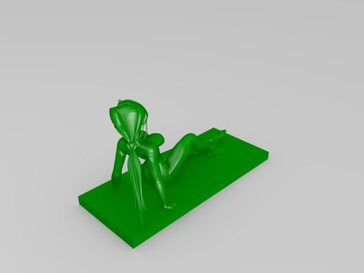 海滩比基尼美女-3d打印模型