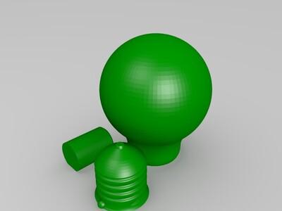 1比1比例灯泡-3d打印模型
