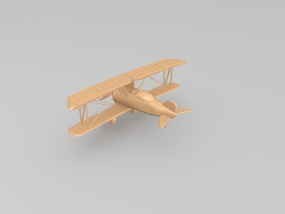 双翼飞机-3d打印模型