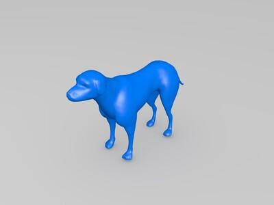 拉布拉多动物狗犬-3d打印模型