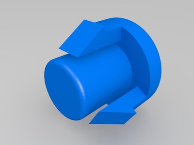 重启按键键帽-3d打印模型