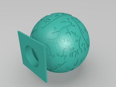 树纹灯罩-3d打印模型