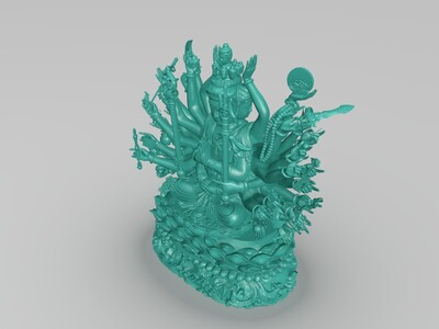 千手观音像-3d打印模型