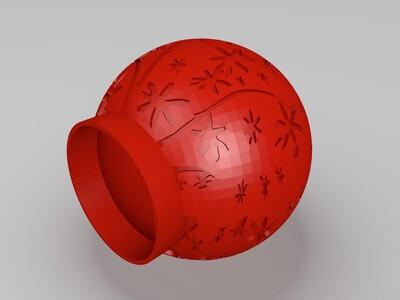 树花灯罩-3d打印模型