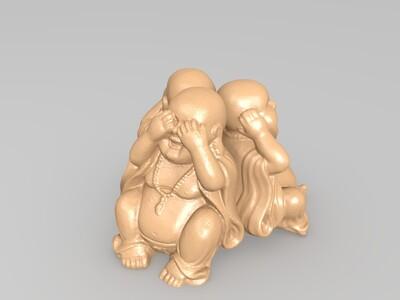 三个小和尚-3d打印模型