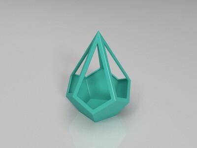 创意几何花盆-3d打印模型