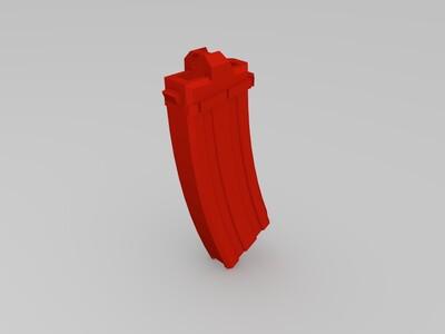 普通弹匣-3d打印模型