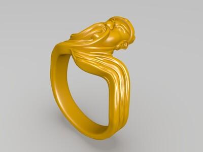 关公戒指-3d打印模型