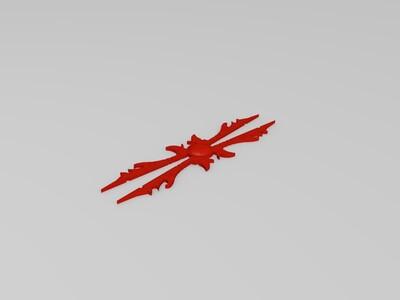 英雄联盟刀妹武器-3d打印模型