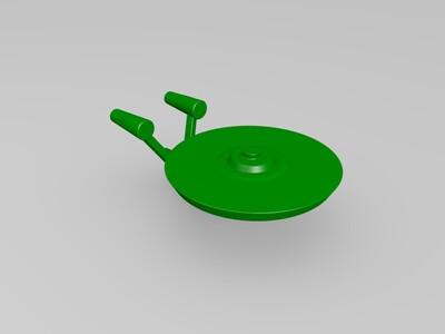 星级迷航企业号(Enterprise)-3d打印模型