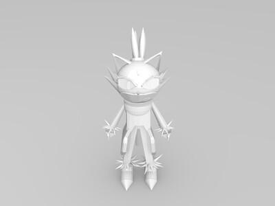 火焰猫-3d打印模型